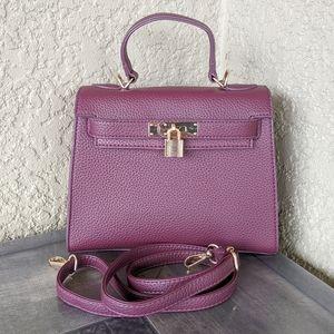 SHEIN Top Handle Magenta Purple Vegan Bag